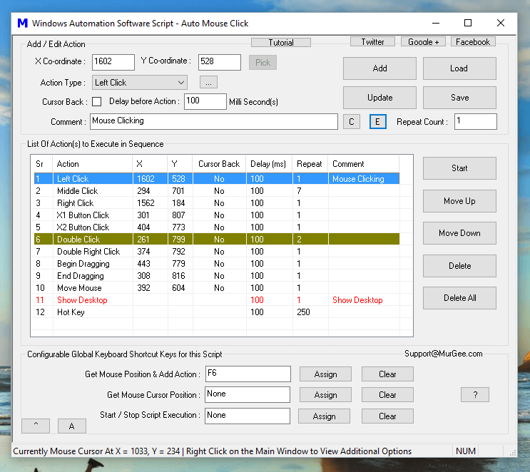 Screenshot of Windows Automation Software